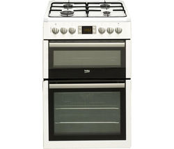 BEKO Select BDVF675NTW 60 cm Dual Fuel Cooker - White
