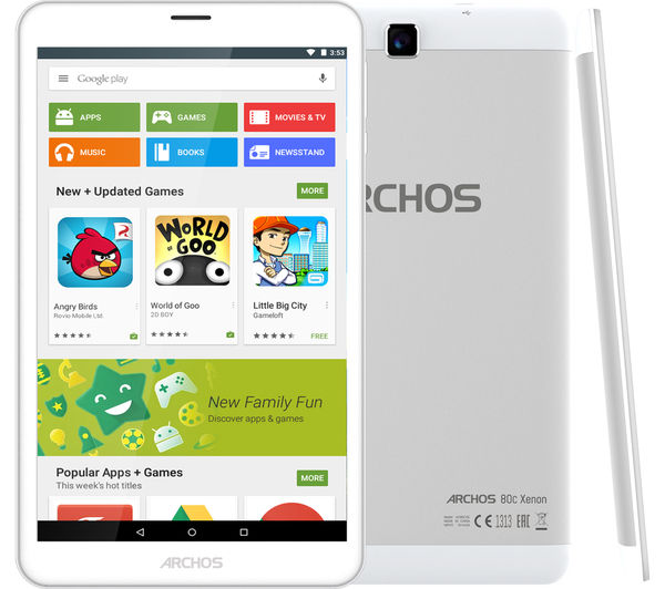 "Image of ARCHOS 80c Xenon 8"" 3G Tablet - 16 GB, Silver"
