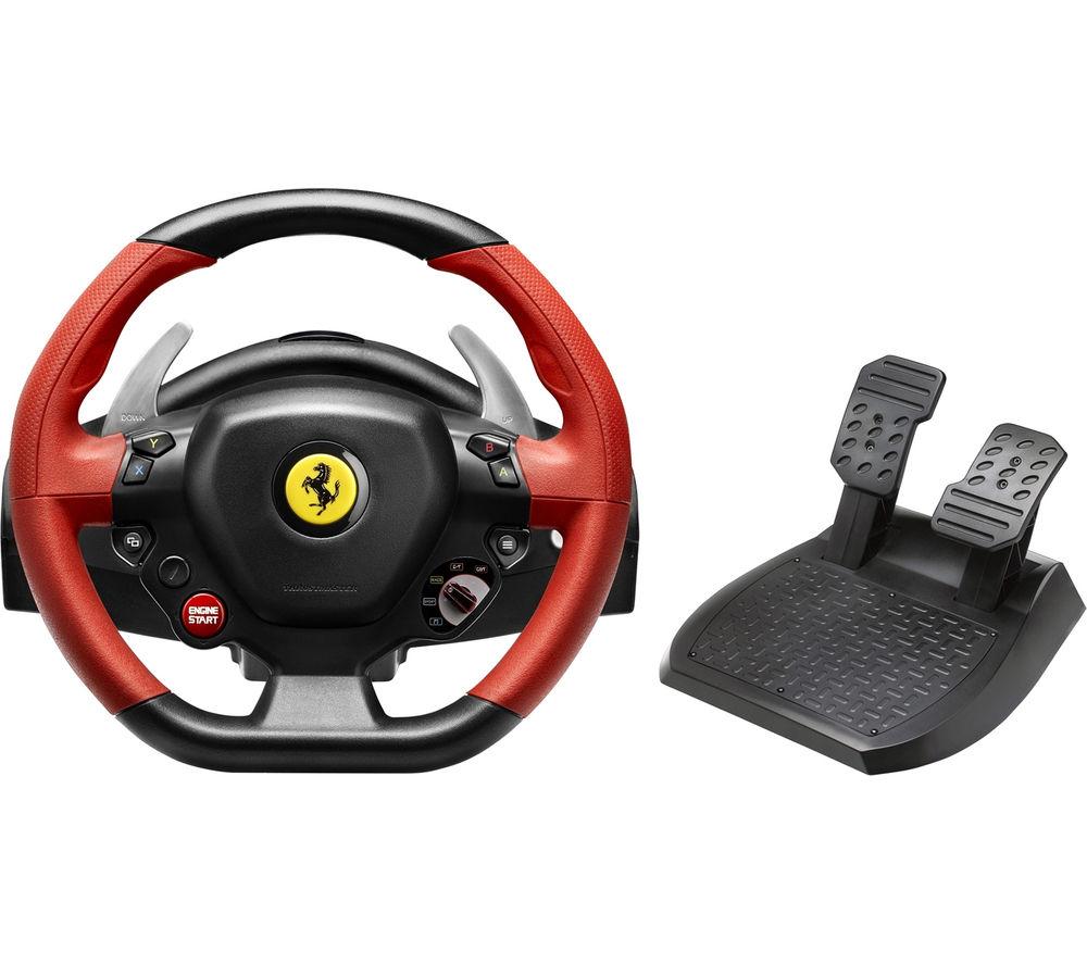 THRUSTMASTER Ferrari 458 Spider Steering Wheel - Black, Red & Silver