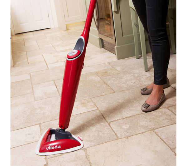 buy vileda 100 c hot spray steam mop red free delivery