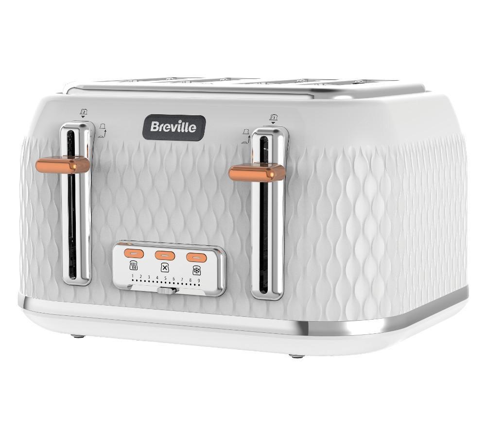 buy breville curve vtt slice toaster  white  free delivery  - breville curve vtt slice toaster  white
