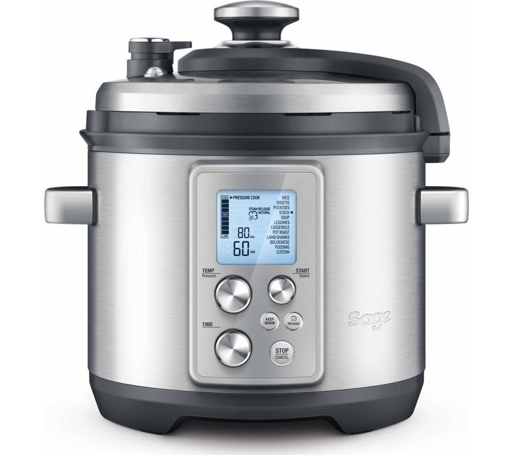 SAGE by Heston Blumenthal Fast Slow Pro Pressure/Slow Cooker - Stainless Steel
