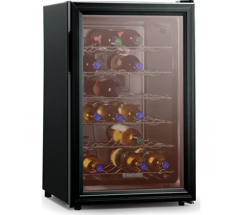 buy baumatic bw28bl wine cooler black free delivery. Black Bedroom Furniture Sets. Home Design Ideas