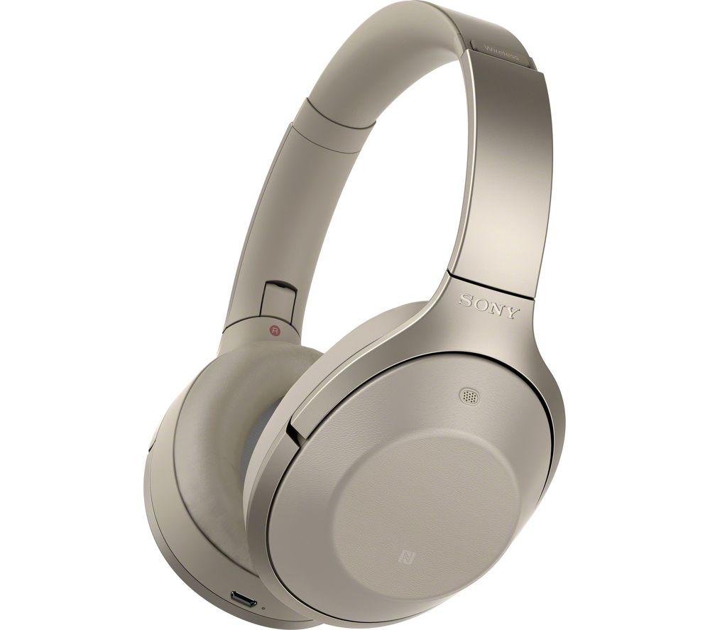 SONY MDR-1000X Wireless Bluetooth Noise-Cancelling Headphones - Grey Beige