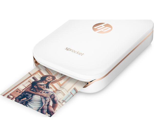 hp sprocket mobile photo printer white deals pc world. Black Bedroom Furniture Sets. Home Design Ideas