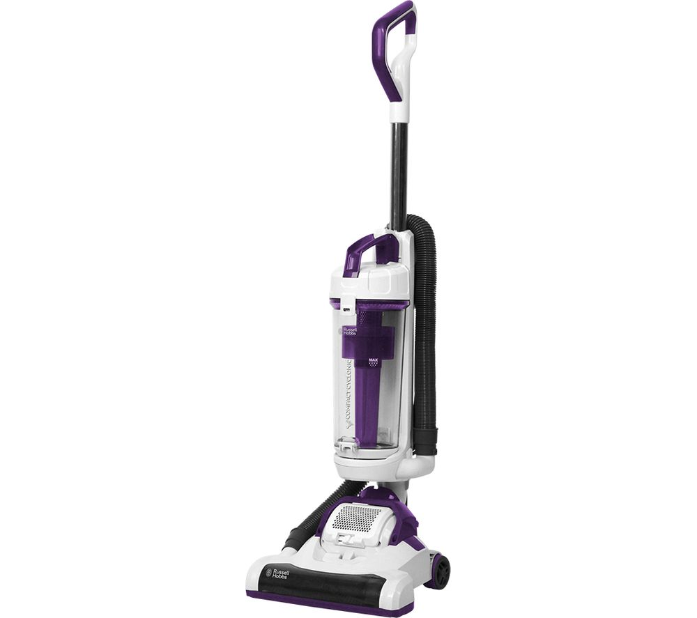 RUSSELL HOBBS  RHUV3002 Upright Bagless Vacuum Cleaner  White & Purple White