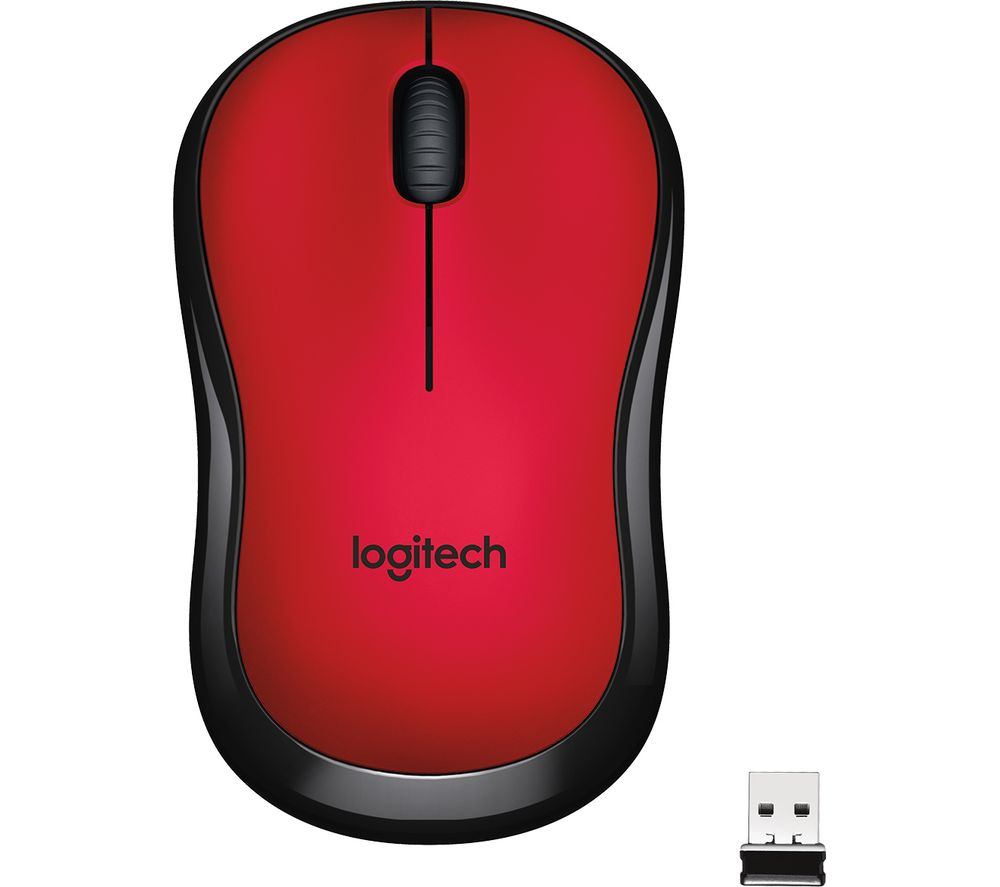 LOGITECH M220 Silent Wireless Optical Mouse - Red