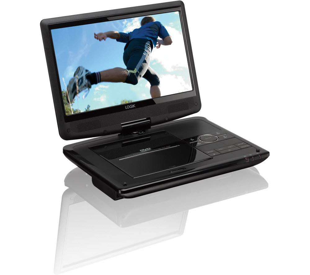 buy logik l10spdv13 portable dvd player black free delivery currys. Black Bedroom Furniture Sets. Home Design Ideas