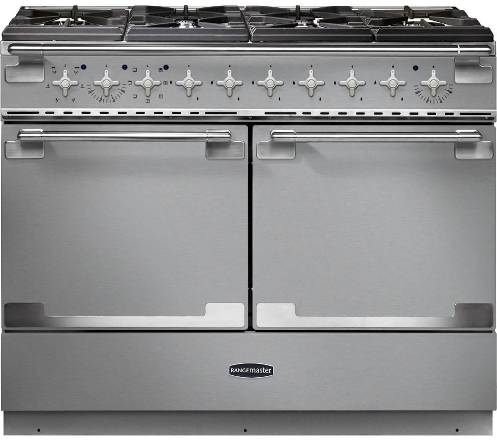 RANGEMASTER Elise SE 110 Dual Fuel Range Cooker - Stainless Steel & Chrome