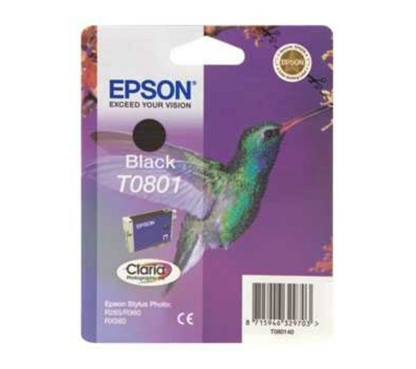 EPSON Hummingbird T0801 Black Ink Cartridge