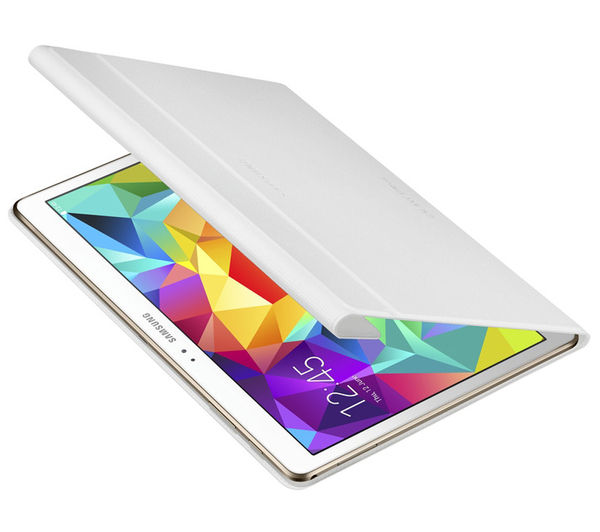 Tab S Book Cover White : Samsung tab s quot book cover white deals pc world