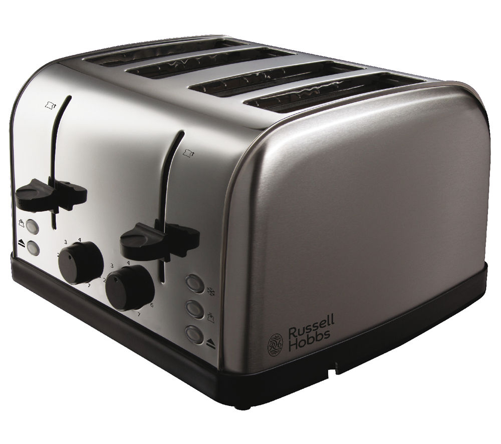 buy russell hobbs futura 18790 4 slice toaster stainless steel free delivery currys. Black Bedroom Furniture Sets. Home Design Ideas