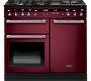 RANGEMASTER Hi-LITE 100 Dual Fuel Range Cooker - Cranberry & Chrome