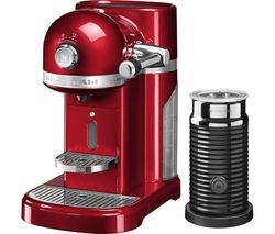 Artisan Nespresso Hot Drinks Machine with Aeroccino 3 - Candy Apple