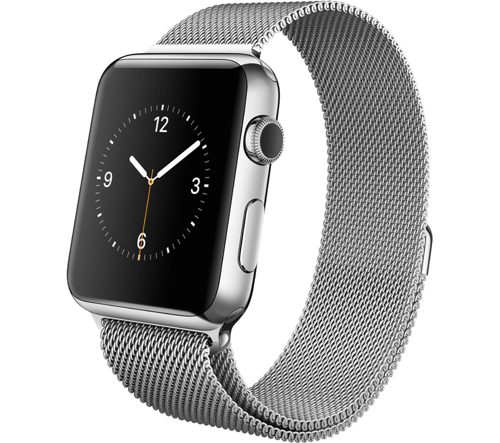 Watch 42 mm with Milanese Loop - Stainless Steel +  APW-TFGB-03 Apple Watch 42 mm Screen Protector