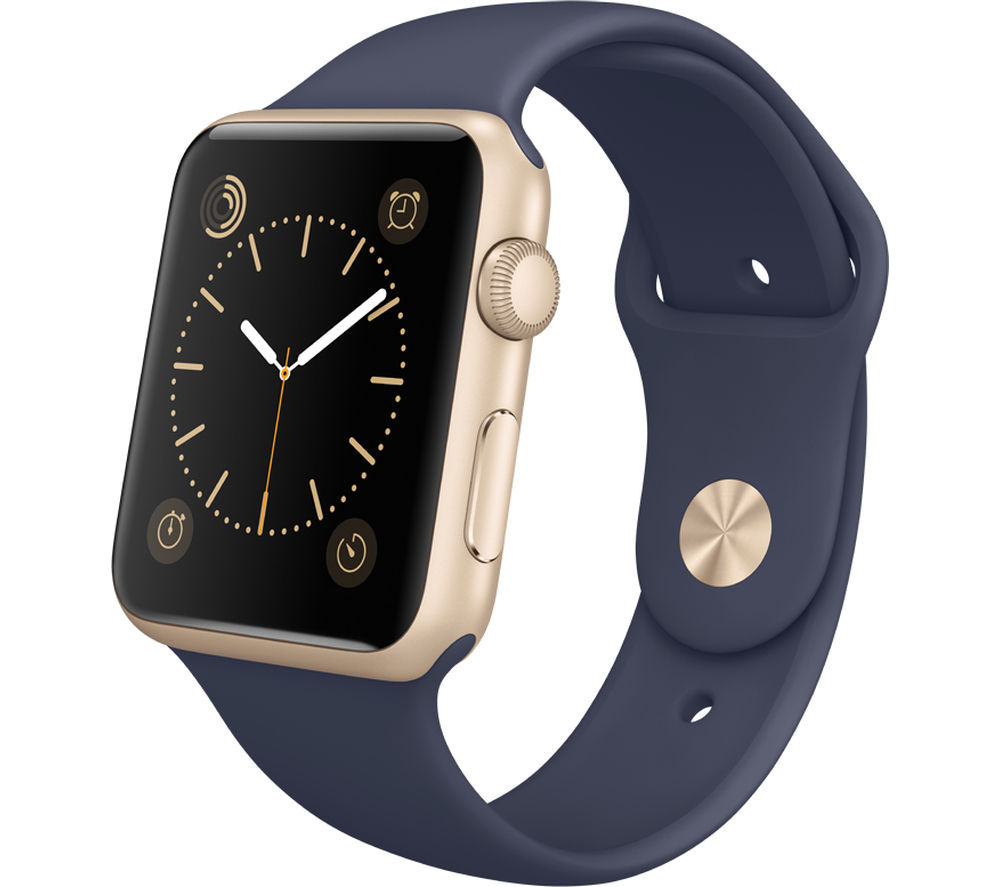 Apple Watch 42 mm with Sports Band - Gold & Midnight Blue, Gold