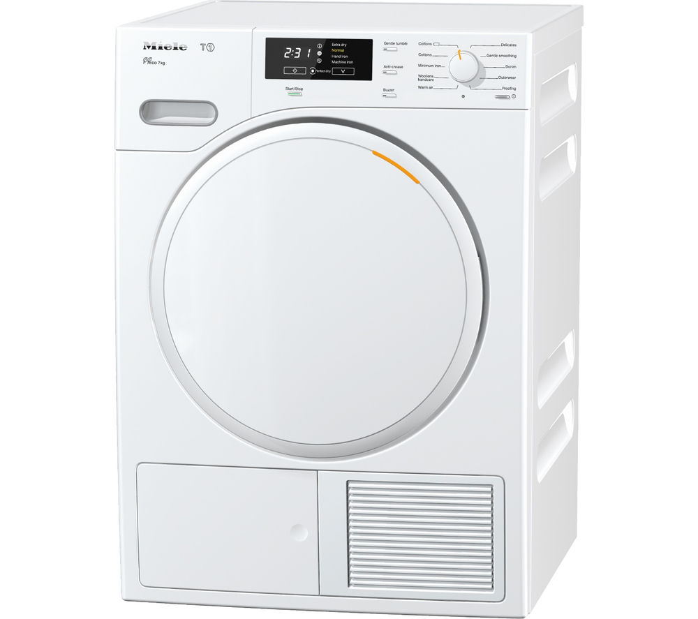 Miele TMB140 Heat Pump Tumble Dryer - White, White