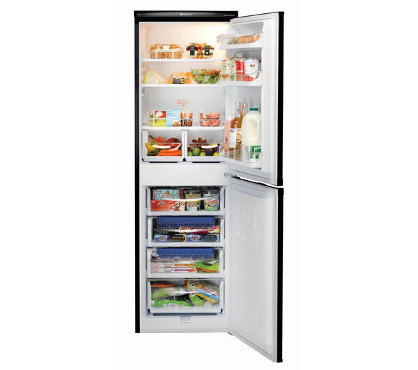 Hotpoint First Edition RFAA52K 150L 54cm Freestanding Fridge Freezer (Black)