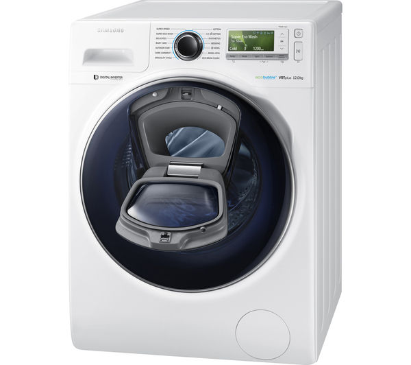 buy samsung addwash ww12k8412ow eu washing machine white free delivery currys. Black Bedroom Furniture Sets. Home Design Ideas