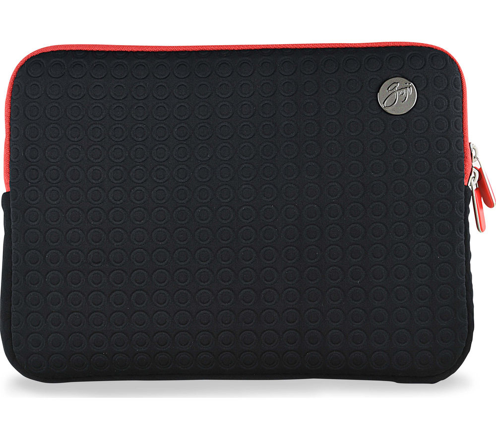 "GOJI GSMBK1216 12"" MacBook Sleeve - Black & Red"