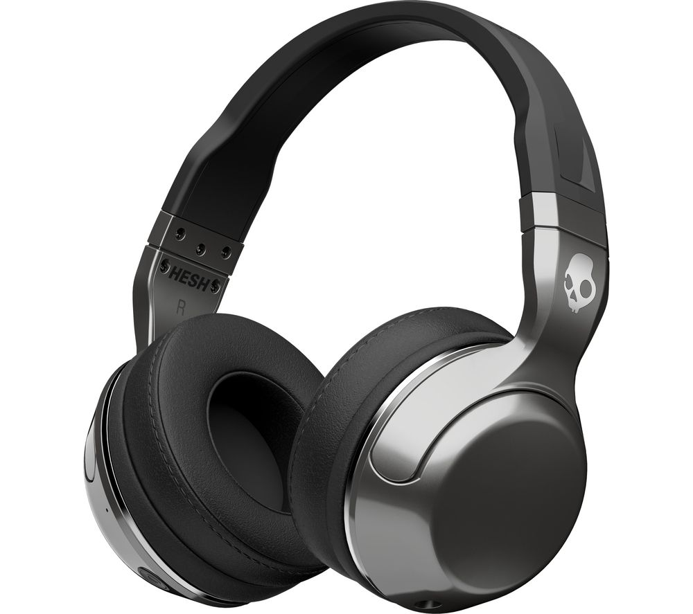 skullcandy hesh 2 0 wireless bluetooth headphones silver black deals pc world. Black Bedroom Furniture Sets. Home Design Ideas