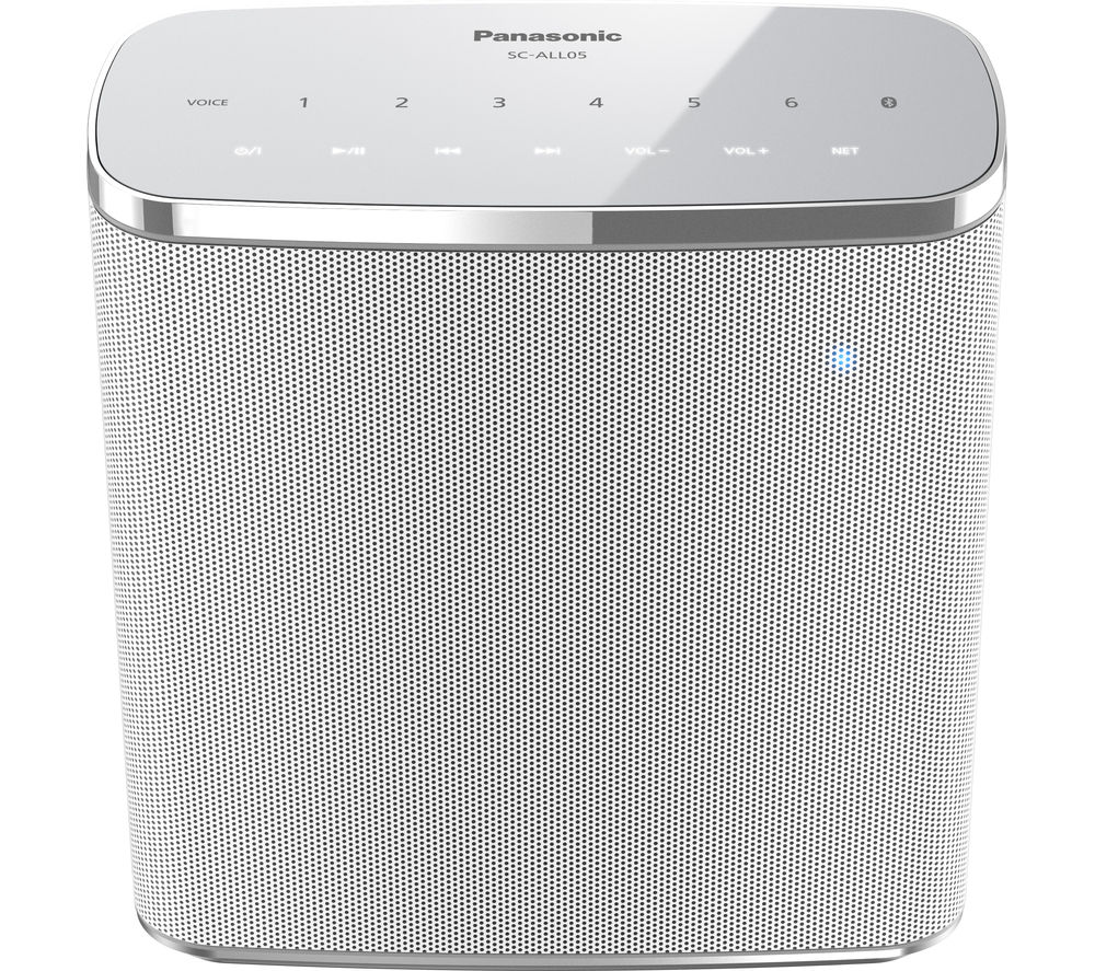 Click to view more of PANASONIC  SC-ALL05EB-W Portable Wireless Smart Sound Multi-Room Speaker - White, White
