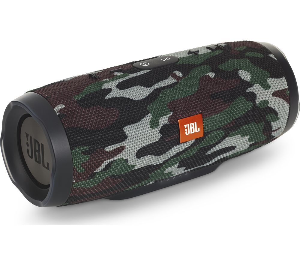 JBL Charge 3 Squad Portable Bluetooth Wireless Speaker - Camouflage
