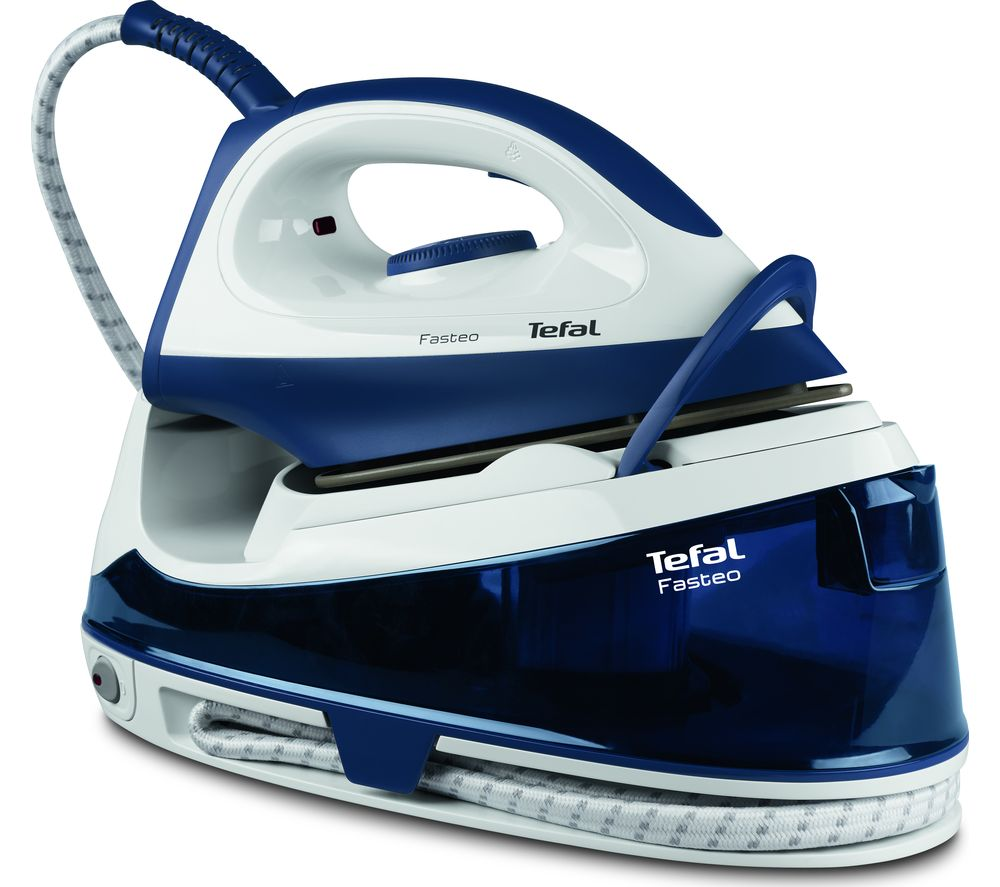 TEFAL Fasteo SV6040 Steam Generator Iron  Blue & White Blue