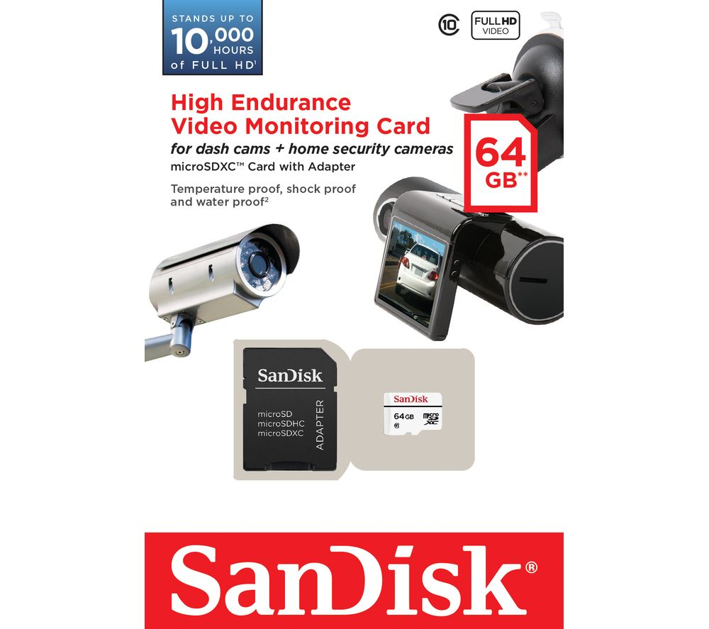 SANDISK High Endurance Video Monitoring Memory Card  64 GB
