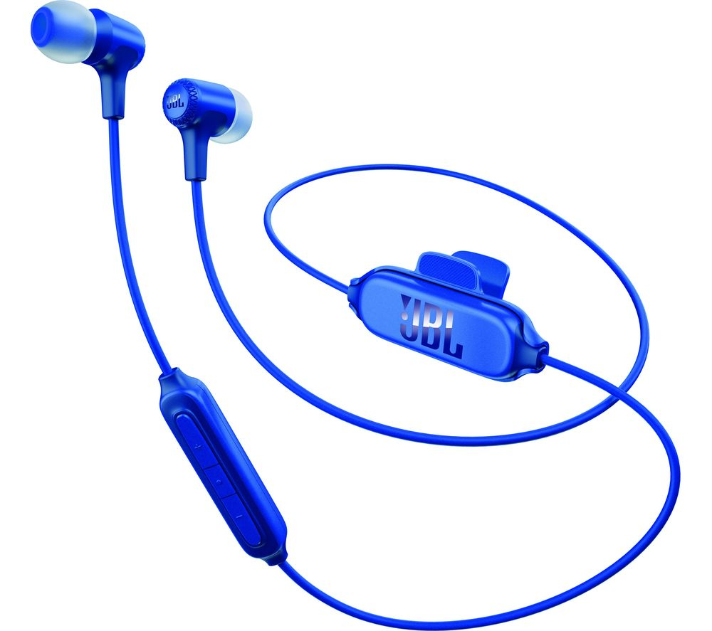 JBL E25BT Wireless Bluetooth Headphones - Blue