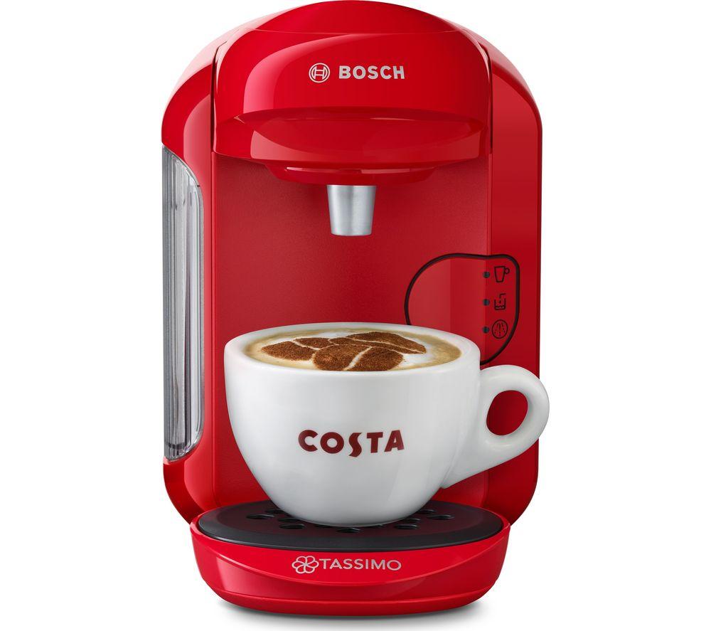 Image of BOSCH by BOSCH Vivy2 TAS1403GB Hot Drinks Machine - Red, Red