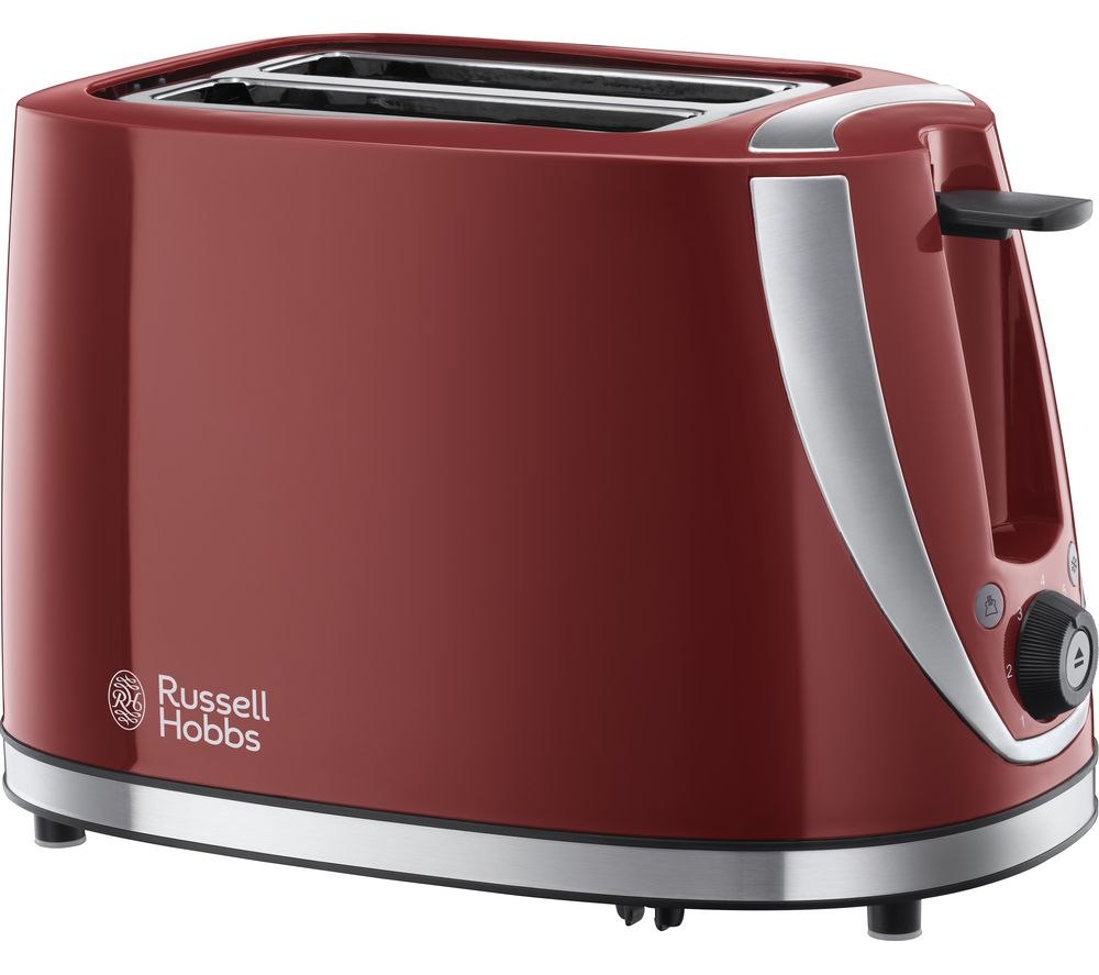 buy russell hobbs mode 21411 2 slice toaster red free delivery currys. Black Bedroom Furniture Sets. Home Design Ideas