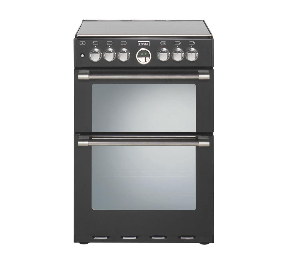 STOVES Sterling 600DF Dual Fuel Cooker - Black