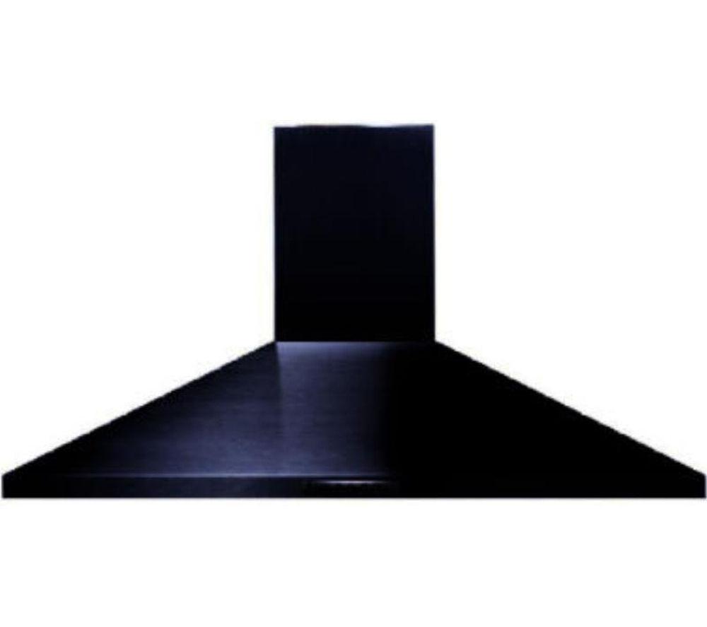 buy belling uh100b chimney cooker hood black free. Black Bedroom Furniture Sets. Home Design Ideas