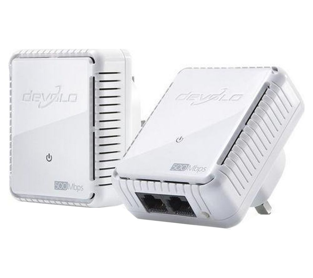 DEVOLO dLAN 500 Duo Powerline Adapter Kit - Twin Pack