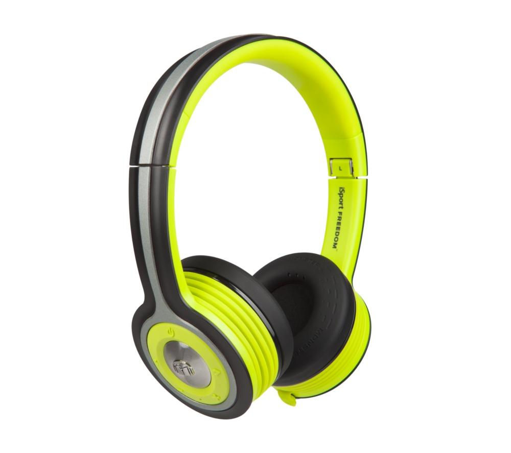 MONSTER iSport Freedom Wireless Bluetooth Headphones - Green