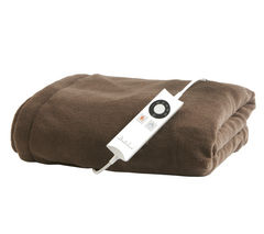 16082 Relaxwell Heated Chocolate Throw - Single