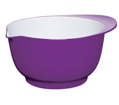 COLOURWORKS 24 cm Mixing Bowl - Purple & White
