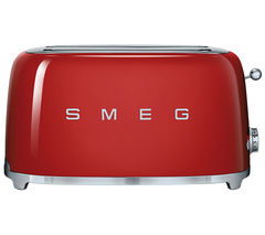SMEG TSF02RDUK 4-Slice Toaster - Red