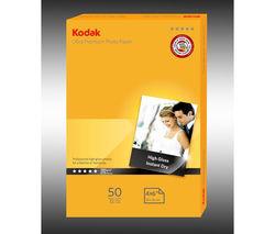 KODAK 100 x 150 mm Photo Paper - 50 Sheets