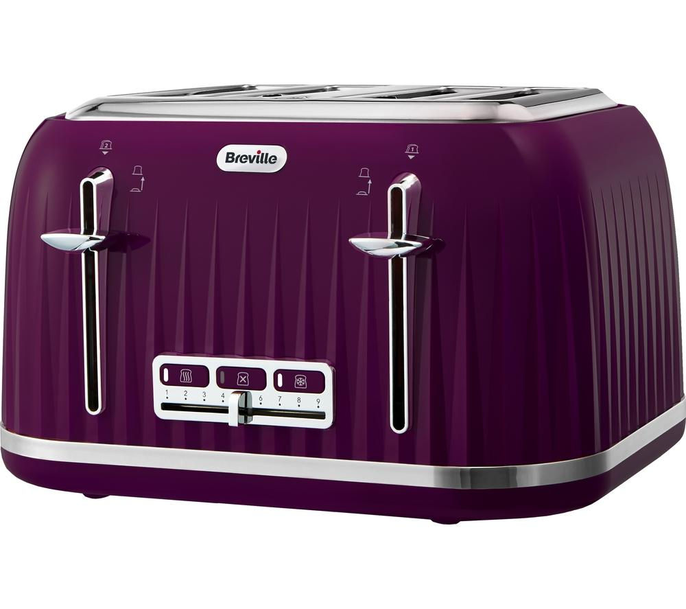 Impressions VTT634 4 Slice Toaster  Purple  Free Delivery  Currys