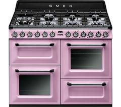 SMEG TR4110RO 110 cm Dual Fuel Range Cooker - Pink