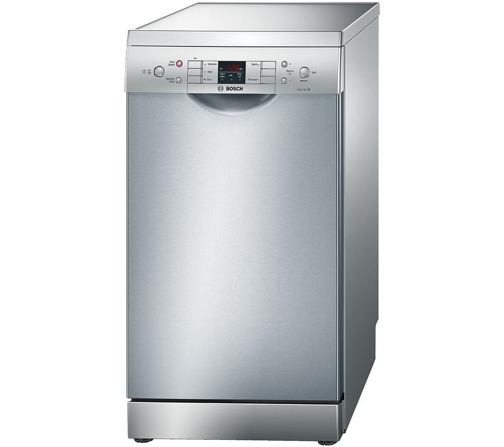 BOSCH  ActiveWater SPS53M08GB Slimline Dishwasher  Stainless Steel Silver