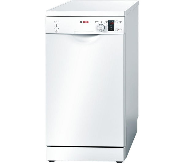 buy bosch serie 4 sps40e12gb slimline dishwasher white free delivery currys. Black Bedroom Furniture Sets. Home Design Ideas