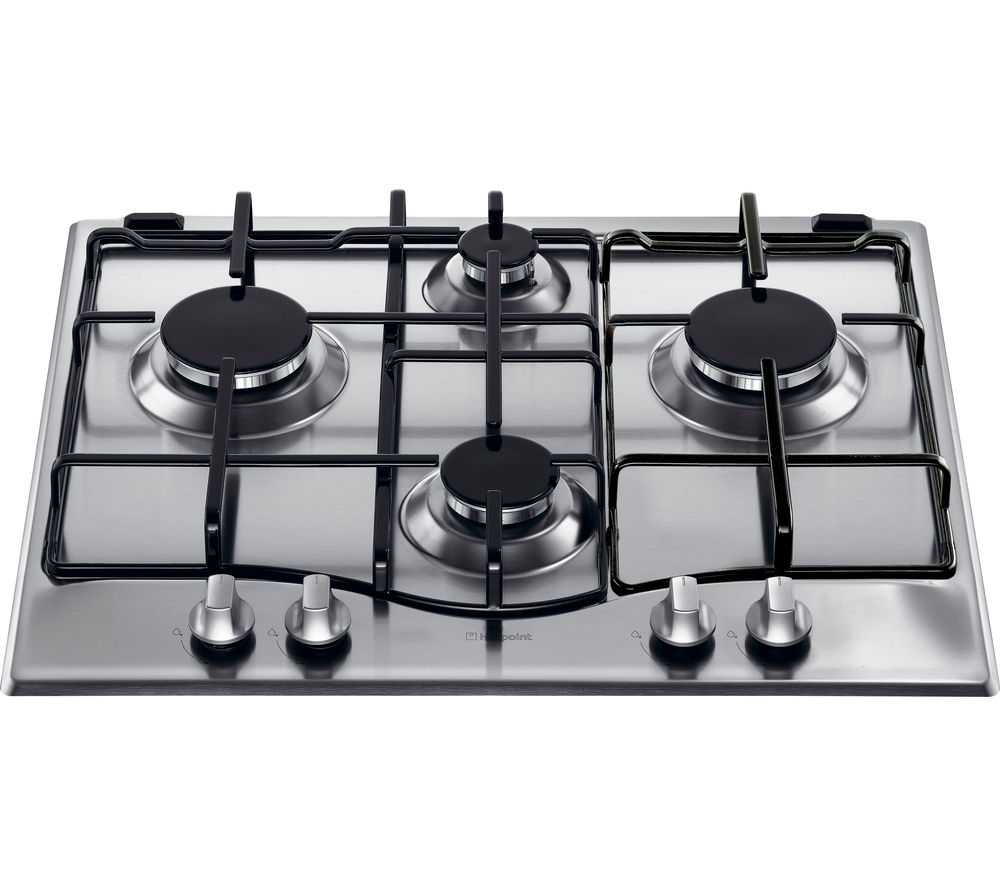 buy hotpoint gc640ix gas hob stainless steel free delivery currys. Black Bedroom Furniture Sets. Home Design Ideas