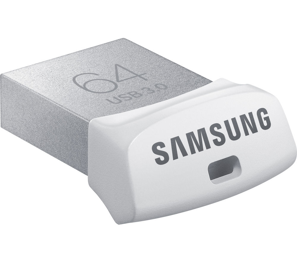 SAMSUNG Fit USB 3.0 Memory Stick - 64 GB, Silver