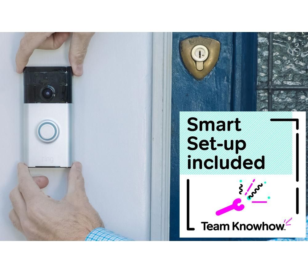 KNOWHOW Ring Doorbell & Installation Bundle - Nickel
