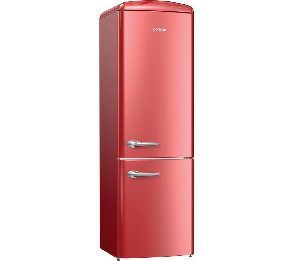 buy gorenje ork193r 60 40 fridge freezer burgundy free delivery currys. Black Bedroom Furniture Sets. Home Design Ideas