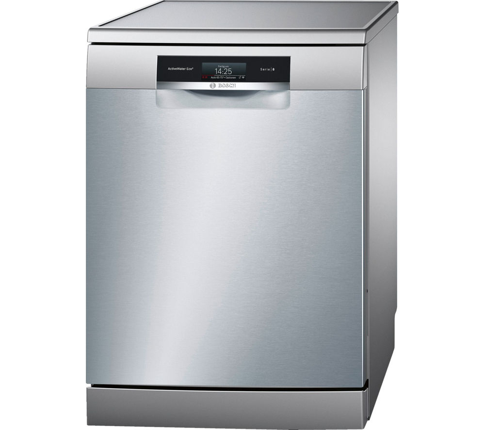 Image of BOSCH ActiveWater SMS88TI26E Full-size Smart Dishwasher - Silver, Silver
