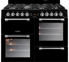 LEISURE Cookmaster CK100G232K 100 cm Dual Fuel Range Cooker - Black & Chrome